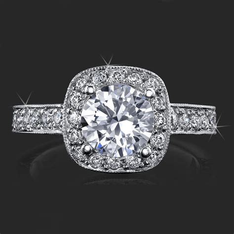 unique style halo engagement ring  ultra diamonds high