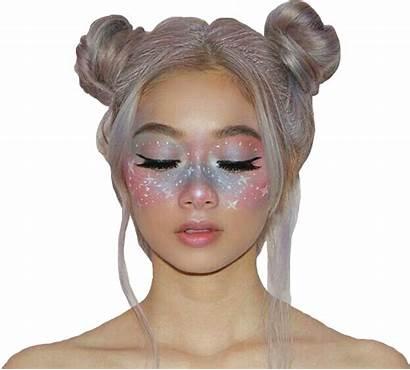 Aesthetic Pastel Makeup Galaxy Spacebuns Sticker Picsart