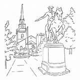 Paul Coloring Revere Logan Sketchite Sculptor Sculpture Template sketch template