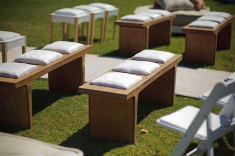 outdoor wedding ceremony benches elizabeth anne designs
