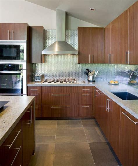 wood cabinets for kitchen metallic tile backsplash with slate floor tiles and sapele 1567