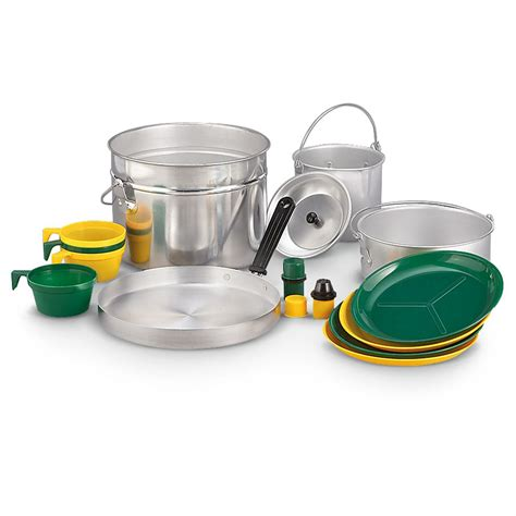 camping cook aluminum pc cookware stansport camp utensils kitchen
