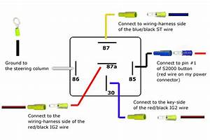Reversing Relay Schematic Wiring Diagram