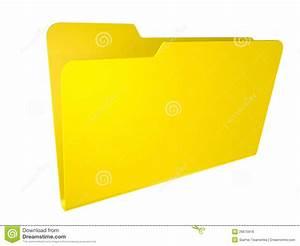 Empty Yellow Folder  Isolated On White  Royalty Free Stock