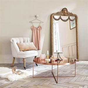 Table Basse Miroir : table basse ronde avec miroir en m tal cuivr com te ~ Melissatoandfro.com Idées de Décoration