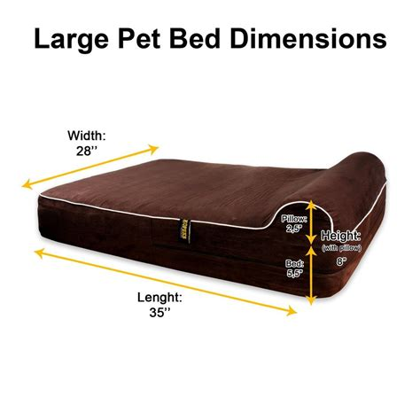 large orthopedic bed large memory foam bed x inch pillow with removable