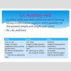 Auxiliary Verbs  My English Blog
