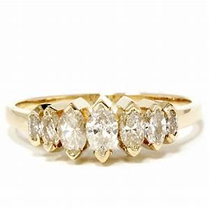 14k yellow gold 3 4ct marquise diamond wedding anniversary With wedding anniversary rings diamonds