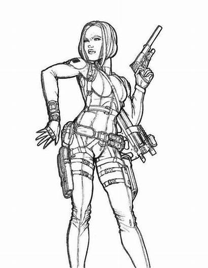 Coloring Warrior Woman Female Printable Xena Superheroes