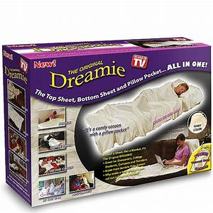 the original dreamie all in one sheet and pillow pocket With best pillow ever as seen on tv