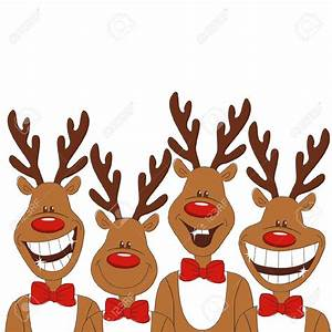 funny christmas reindeer clipart - Clipground