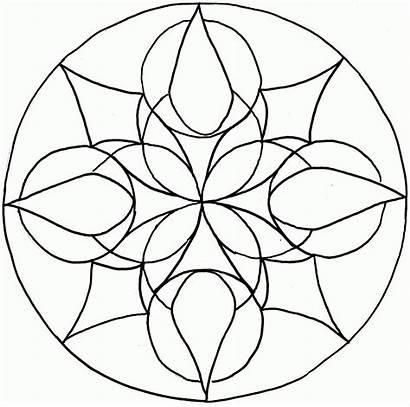 Mandala Mandalas Coloring Simple Printable Children Template