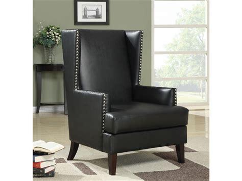 black high back accent chair w nailhead trim coaster 902078