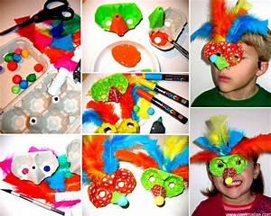 Boite A Oeufs Originale : diy masque carton r cup pour le carnaval carnaval bricolage carnaval boite a oeuf et carnaval ~ Nature-et-papiers.com Idées de Décoration