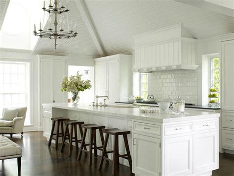 Long Kitchen Island  Transitional  Kitchen  House Beautiful