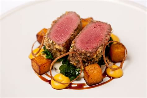 venison  parmesan crust recipe great british chefs