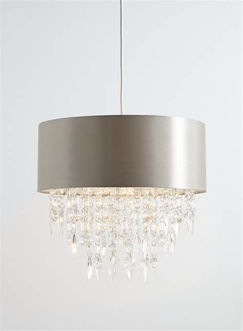 large 400mm easy fit ceiling light shade mocha with