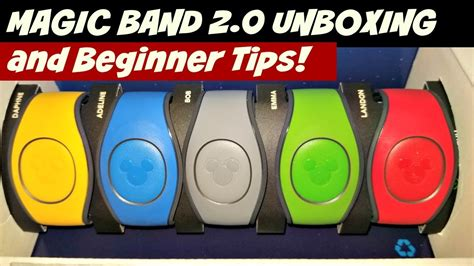 magic band 2 0 unboxing the magic band 2 0 beginner tips preparing for disney world