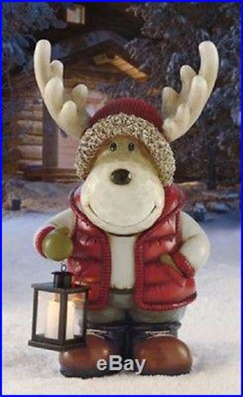 moose led lantern light christmas holiday indoor outdoor
