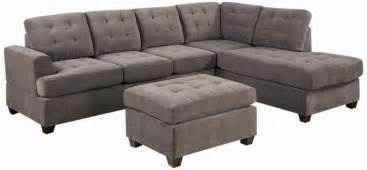 Poundex Reversible Sectional Sofa by Grey Sectional Couch Microfiber Grey Sectional Sofa