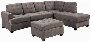 Sofa delightful microfiber chaise sofa cindy crawford for Microfiber recliner sectional sofa couch chaise