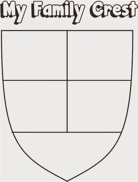 family crest worksheet a crafty brownie meeting 14 my family story skill