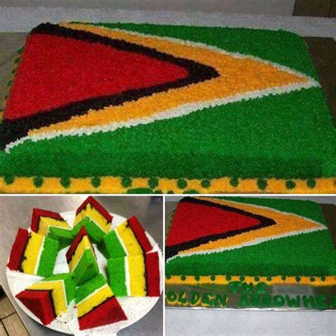 guyana flag cake yummy treats   guyana flag