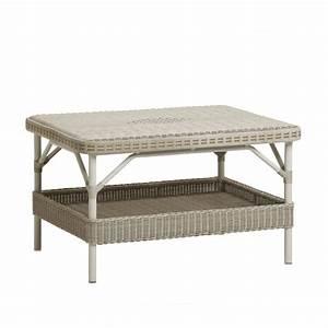 table basse de jardin en rotin synthetique brin d39ouest With meuble de jardin rotin synthetique