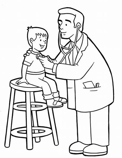 Doctor Coloring Pages Colouring Doctors Hospital Jobs
