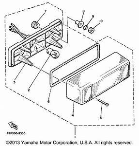 taillight vk540 vk540en yamaha With diagram of 1989 phazer deluxe elec start pz480en yamaha snowmobile