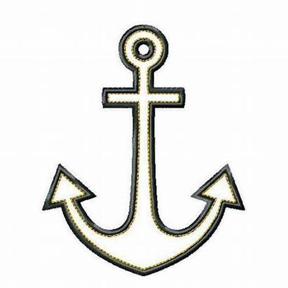Anchor Clip Clipart Outline Simple Cross Anchors