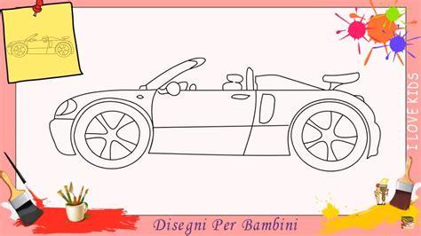 disegni  auto   disegnare una macchina facile passo  passo  bambini youtube