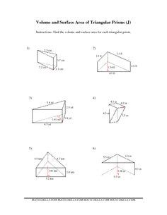 volume and surface area worksheets volume and surface