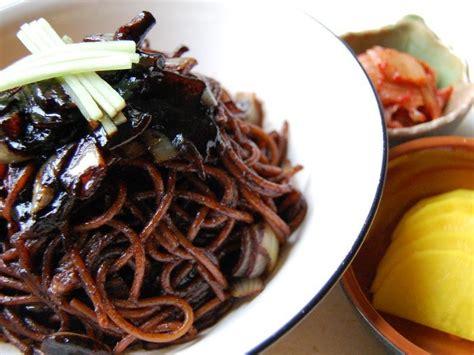 jjajangmyeon noodles  black bean sauce zenkimchi