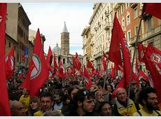 Communist march in Rome