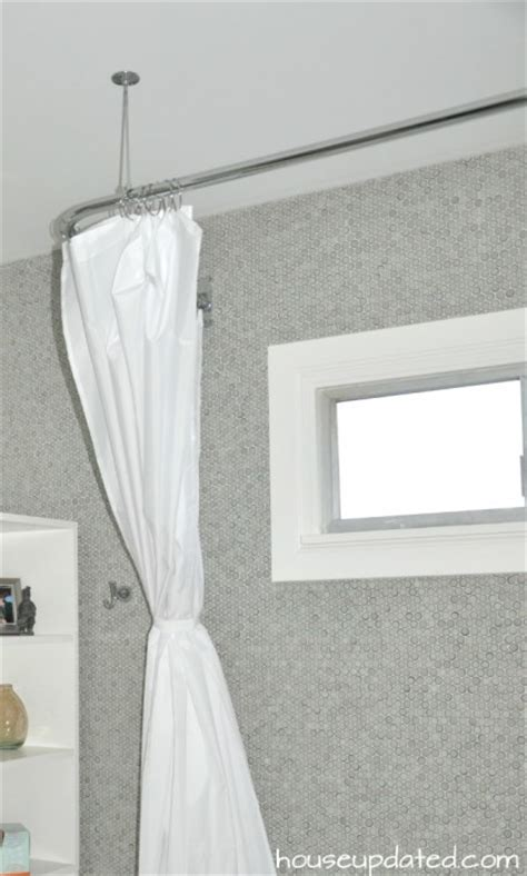 how to attach shower tieback the house decorating