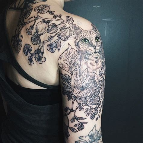 pony reinhardt inks beautiful nature themed tattoos