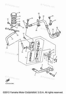 Yamaha Motorcycle 2003 Oem Parts Diagram For Rear Master