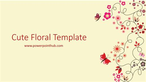 powerpoint template cute floral template