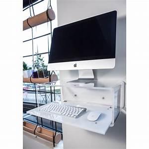 """Consolle porta pc per iMac 21"""" da parete in plexiglass Designtrasparente eBay"""