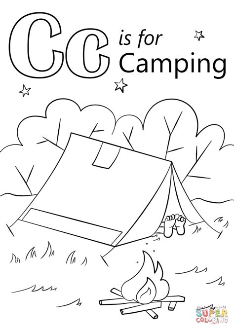 letter    camping super coloring  wcdc