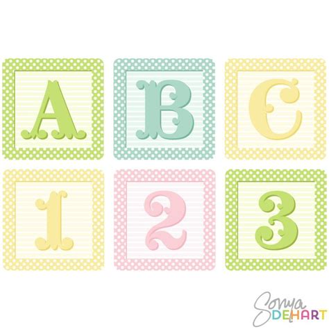 cutest baby block clip art vector shaby french baby