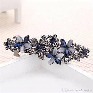 2016 Elegant Shining Royal Blue Wedding Bridal Hair