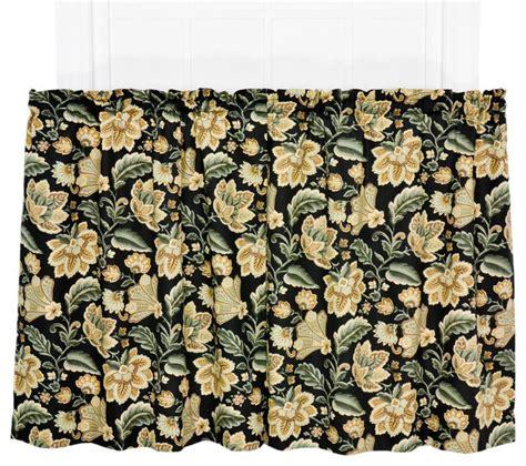 valerie jacobean floral print 68 quot x24 quot tier pair curtains