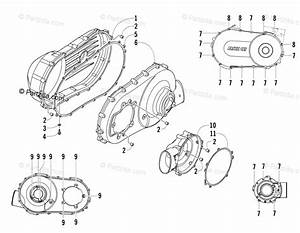 Arctic Cat Side By Side 2013 Oem Parts Diagram For Clutch