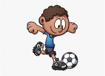 Soccer Clipart Football Cartoon Playing Play September