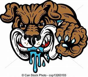 Vector Clipart of mean drooling bulldog csp13263103 ...
