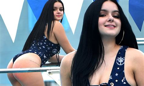 ariel winter dons lace  swimsuit  sexy poolside