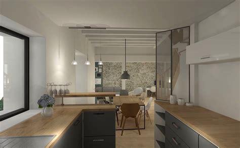 sejour avec cuisine ouverte ouverture cuisine sur sejour photos de conception de
