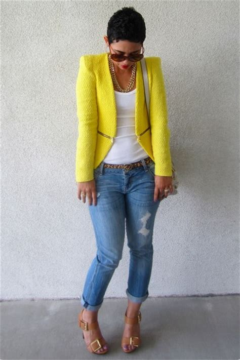 Style For Fashion How they wear Yellow Blazer
